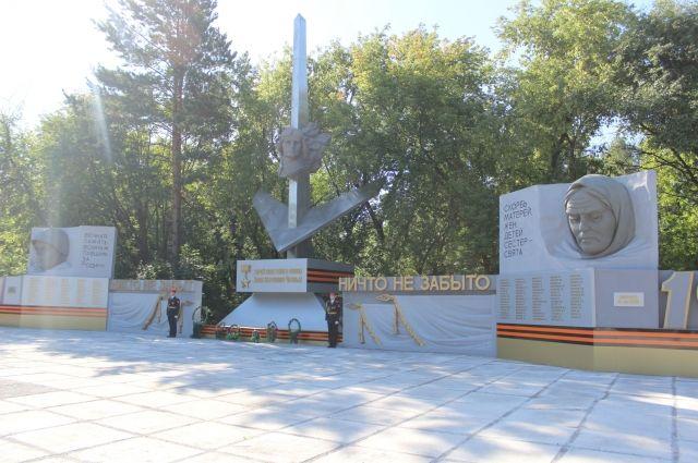 Мемориал посвящен работникам машиностроительного завода, погибшим в годы Великой Отечественной войны.