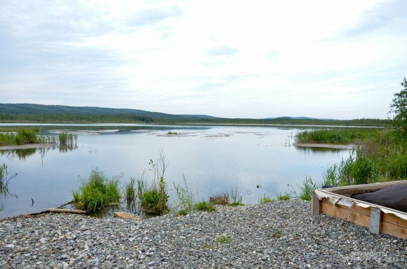 Озеро Здохня на окраине Екатеринбурга.
