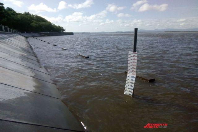 На Амуре у сёл Елабуга и Малмыж (Хабаровский край) уровни воды на 6-29 см выше отметок категории НЯ.