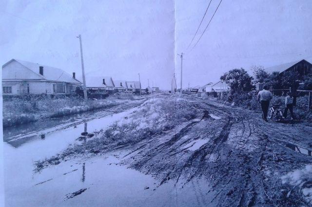 Так выглядит улица Луговая в посёлке Большеречье Омской области, 2018 год. 30 лет назад она выглядела так же.