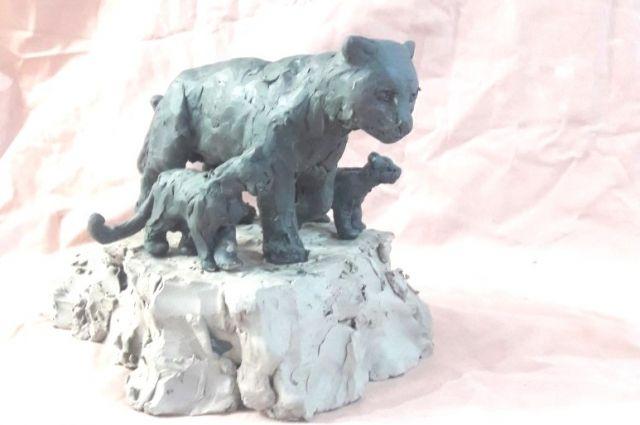 Предварительный макет скульптурной композиции