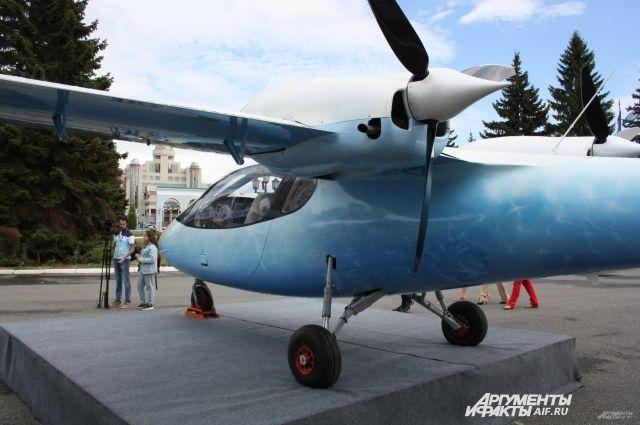 """Легкий самолет """"Мурена"""" пока используют как бизнес-такси, хотя он бы смог быть региональным самолетом."""
