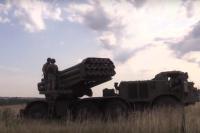 «Ураганы» в действии: в зоне ООС проверили ракетную артиллерию
