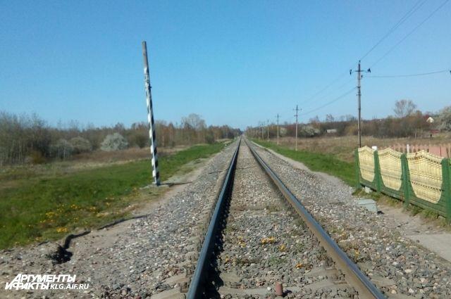 В Калининграде участились случаи перехода железной дороги не по правилам.