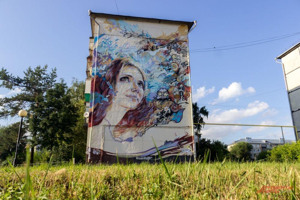 Граффити от Василия ЛСТ (аббревиатура от Ласточкин). Тут изображена его девушка.