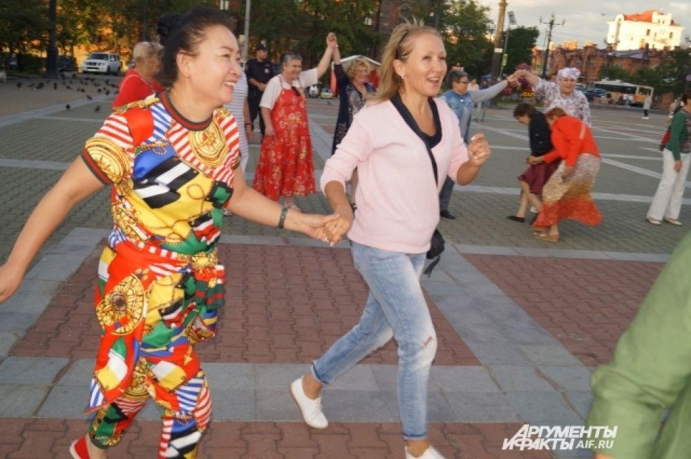 В русские игры включились китайские туристы.