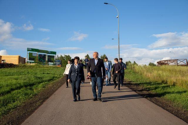 Врио губернатора Сергей Цивилев посетил Прокопьевский район с рабочей поездкой.