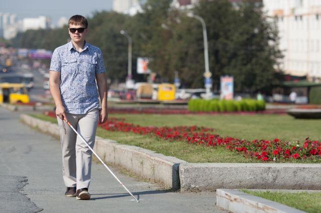 Одним из спикеров был Владимир Васкевич – незрячий путешественник.