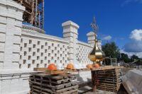 Здание Троицкой церкви готово на 90%.