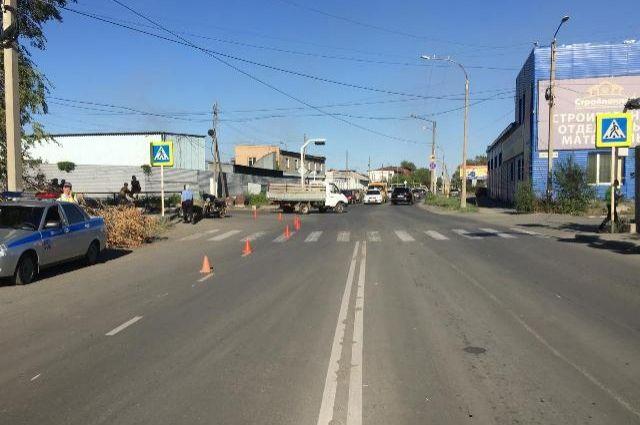 В Новотроицке пенсионер на мотоцикле сбил школьника на «зебре».