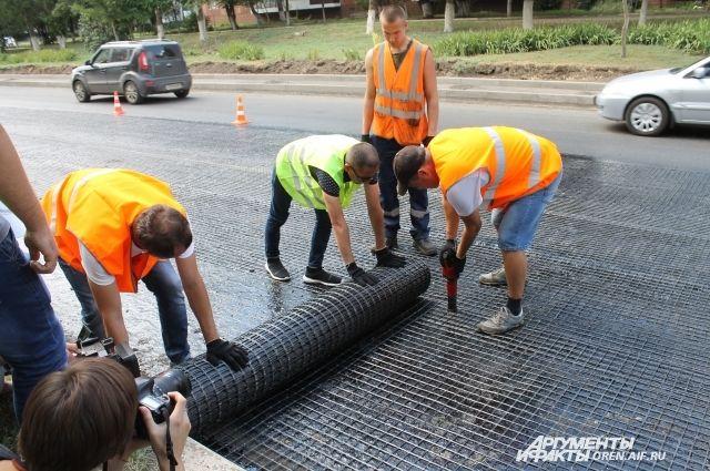 В Оренбурге дорожные работы на ул. Чкалова закончатся к 1 сентября.