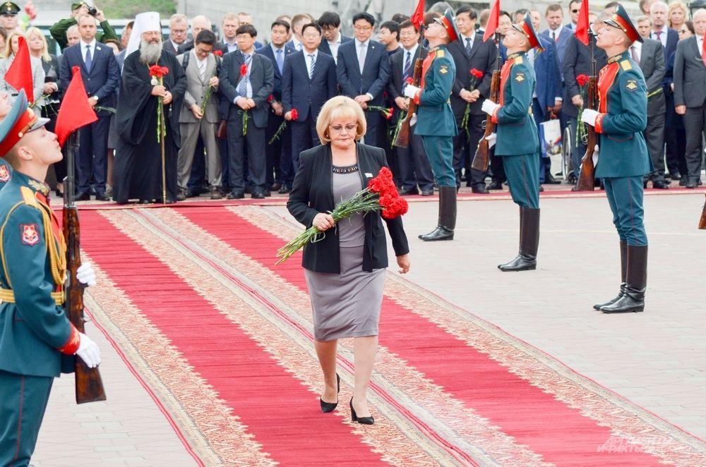 Спикер Законодательного собрания Свердловской области Людмила Бабушкина.