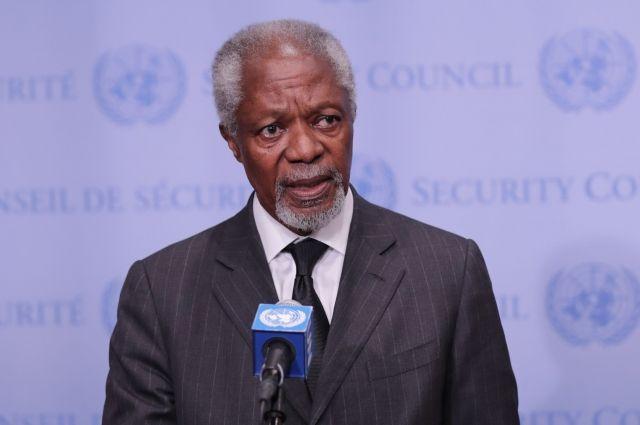 Генеральный секретарь ООН прокомментировал смерть Кофи Аннана