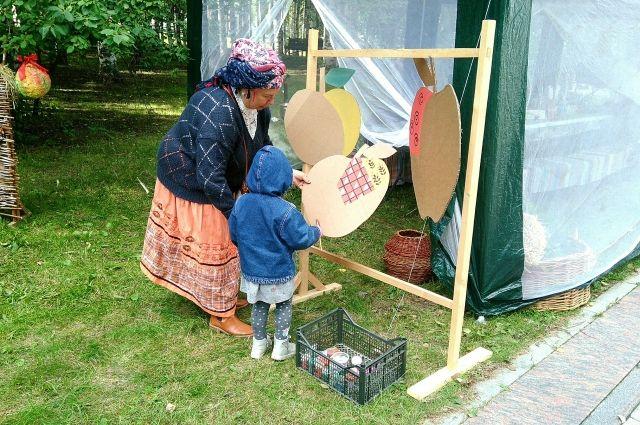Ольга Бубновене на праздновании Яблочного спаса