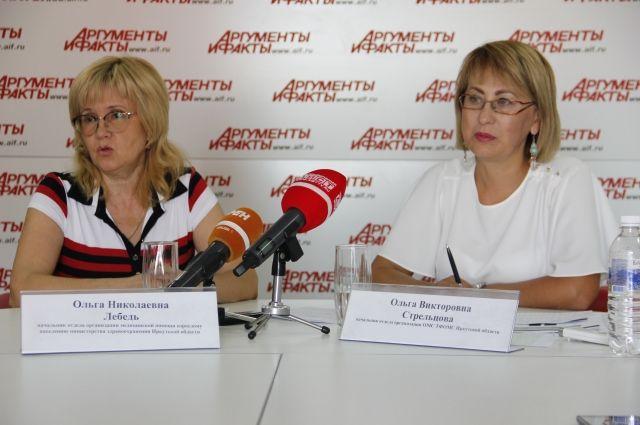 Ольга Лебедь и Ольга Стрельцова.