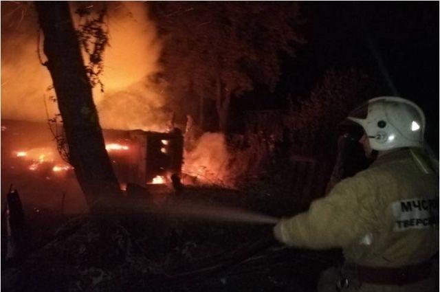 Пожар в Весьегонском районе