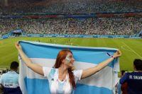 Анастасия на Чемпионате мира по футболу болела и за Россию, и за Аргентину