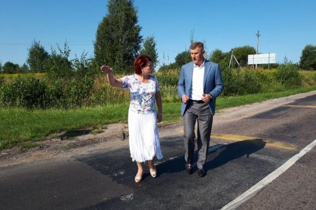 Опасный перекресток трассы «Гвардейск-Неман» оборудовали неровностями.