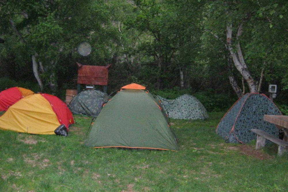Казачий палаточный городок.