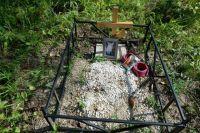 Видно, что за могилами на стихийном кладбище ухаживали.