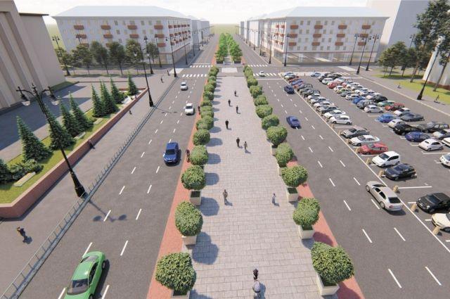 На Октябрьской площади, по задумке авторов концепции, нужно восстановить бульварную часть.