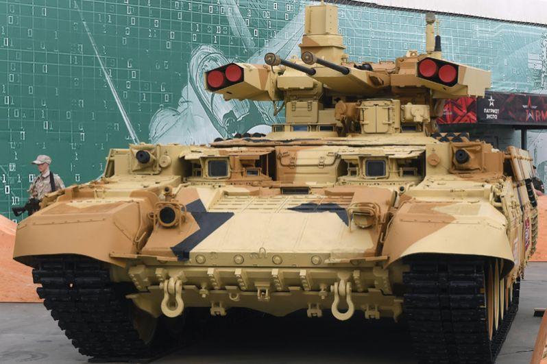 Боевая машина поддержки танков (БМПТ) «Терминатор» в Кубинке.