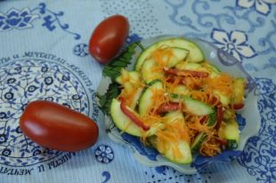 В составе блюда - только сырые овощи.