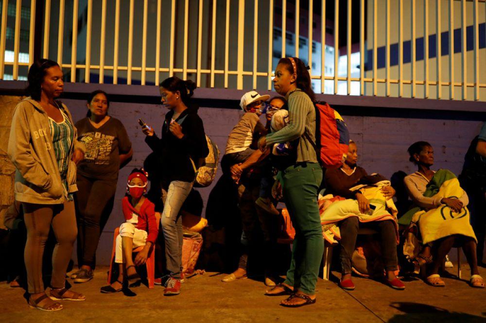 Жители, эвакуированные из окрестных районов.