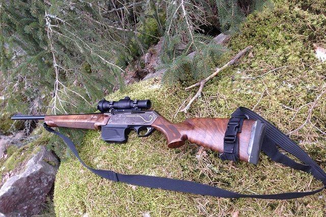 На охоте применил самодельное оружие.