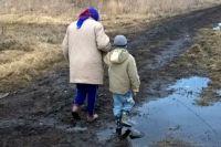 Дорога в тюменском селе.