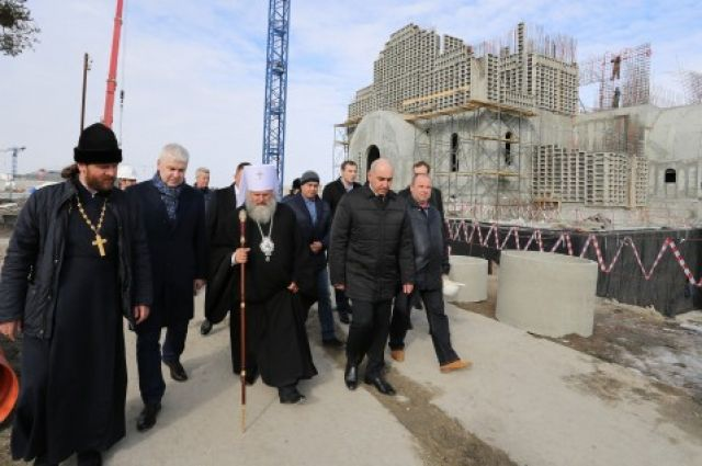 Стройка храма велась 2,5 года.