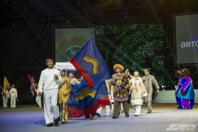 Спортсмены Ненецкого автономного округа на церемонии открытия были в национальных костюмах.