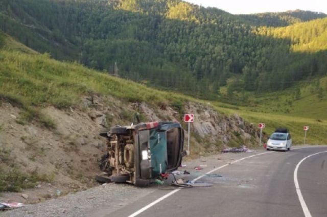 ДТП произошло на 659-м километре Чуйского тракта