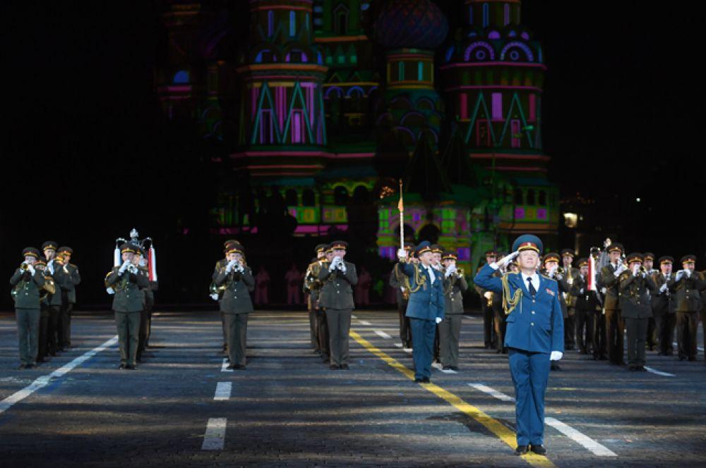 Сводный военный оркестр войск национальной гвардии.