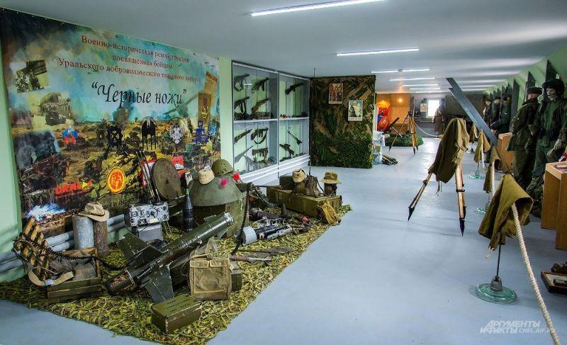 Экспонаты музея - вооружение.