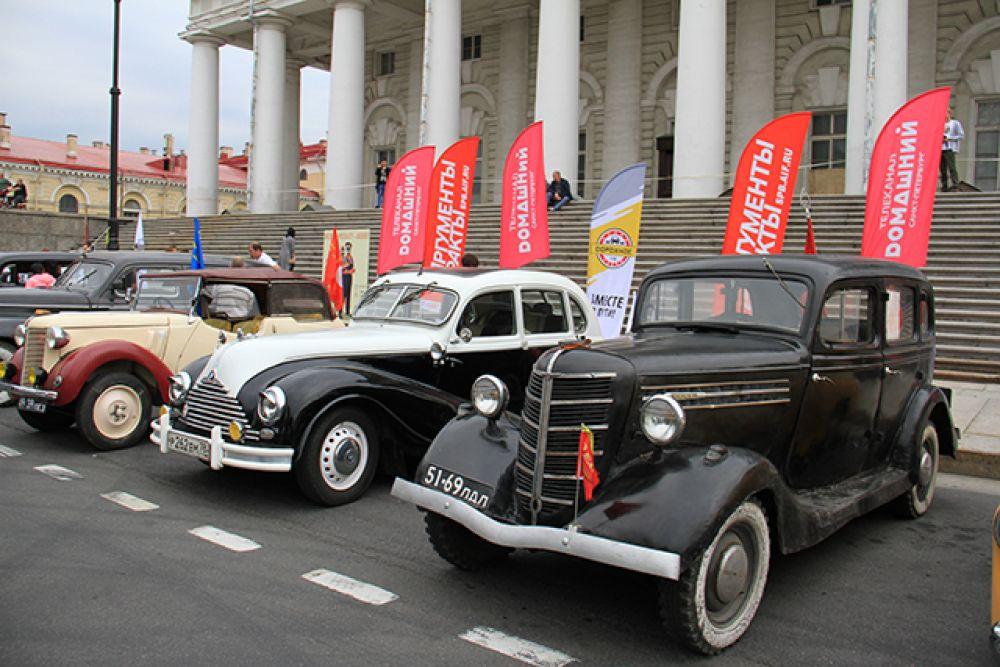Автопробег был организован в честь 40-летия АиФ.