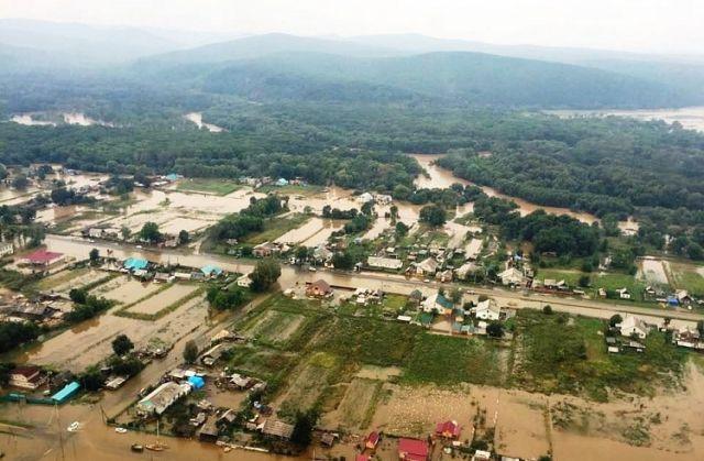 РежимЧС ввели в 3-х районах Приморья из-за подтоплений
