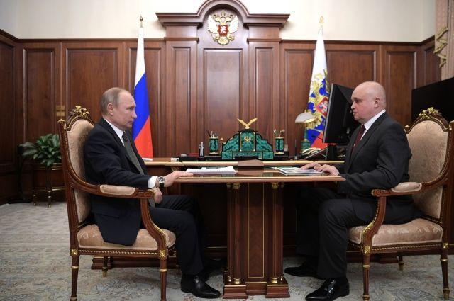 Также президент России проведет рабочую встречу с врио губернатора региона Сергеем Цивилевым.