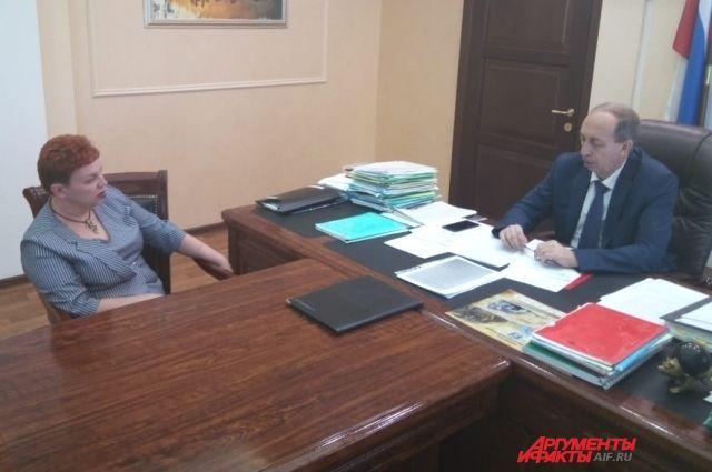 Личная встреча Александра Левинталя и Юлии Кремневой.