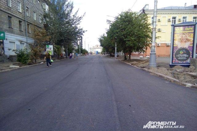 Основыне работы по асфальтированию улиц закончатся до 30 сентября.