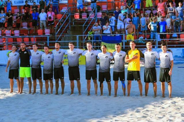 В Киеве прошли финальные матчи чемпионата Украины по пляжному футболу
