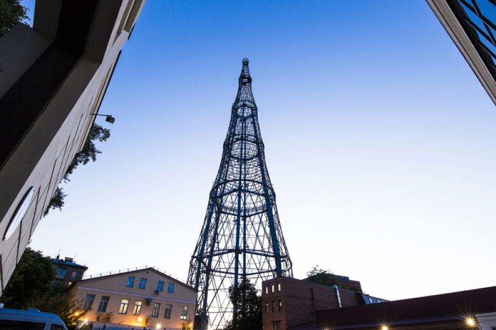 Радиобашня на Шаболовке в Москве стала самой высокой из многосекционных шуховских башен.