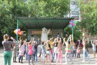Дети на празднике весело проводили время.