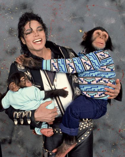 Майкл Джексон во время съемки в 1989 году.