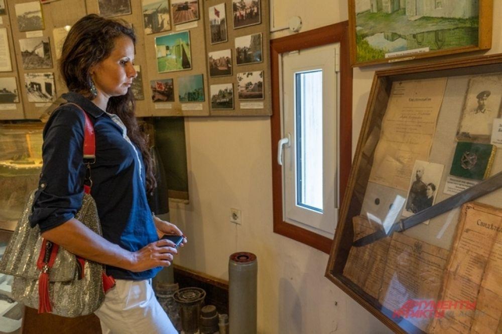 В музее много уникальных документов и фотографий.