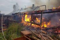 Дом с селе Юрьевка выгорел дотла.