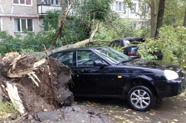 Автомобилисты во время шторма могут надеяться только на страховку.