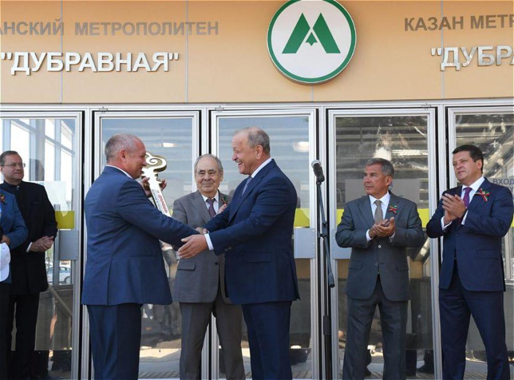 Самым значимым событием дня стало открытие долгожданной станции метро