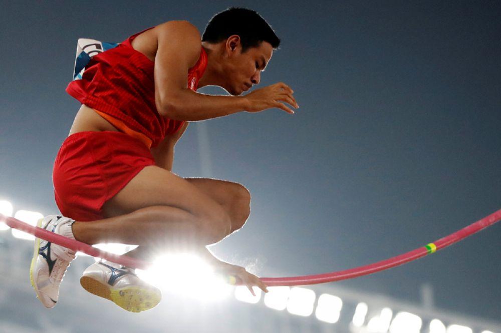 Азиатские игры–2018. Легкая атлетика, финал по прыжкам с шестом среди мужчин, Джакарта, Индонезия.