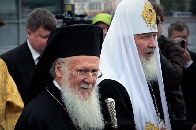 Патриарх Кирилл встретился с патриархом Константинопольским